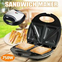 Familie 4 Scheiben Quad Black Large Sandwich Toaster Maker Maschine Antihaft