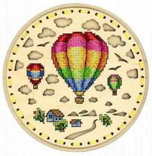 Embroidery on a wooden base kit Sliver by MP Studio O-024 - Air travel