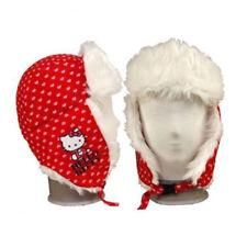 HELLO KITTY Kinder Mädchen Wintermütze mit Plüsch Ohrenwärmer