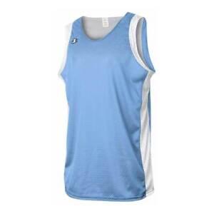 Champion Men's Reversible Basketball Jersey B002 Light Blue/white