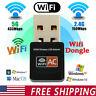 Dual Band 600Mbps 2.4G / 5G Hz Wireless Lan Card USB PC WiFi Adapter 802.11AC W3