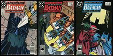 Batman Many Deaths of the Batman Comic set 1-2-3 Lot 433 434 435 Dark Knight