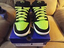 2011 Nike Dunk Sb Low NEON JPACK Supreme leather 10.5 Authentic Rare 304292-019