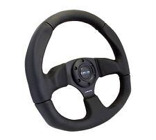 NRG Innovations Race Series Steering Wheel Black Suede Black Spokes - RST-009S
