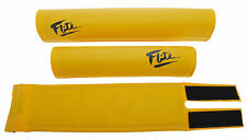 """FLITE BMX bicycle foam padset pads 80's LOGO """"SCHOOL BUS"""" YELLOW *MADE IN USA*"""