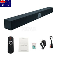 AU* Home Theater TV Speaker Sound Bar Wall Mounted Subwoofer Stereo Bluetooth