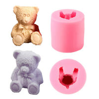 3D Bear Silicone Fondant Soap Candel Making Mold Cake Decorating Diy Mould Tool