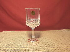 "Cristal de Flandre Fascination Pattern Water Goblet 7 1/4"" NWT"