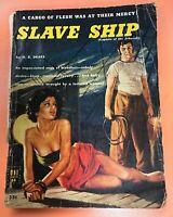 Uni Book #35 Slave Ship H.B. Drake 1940s Pulp VG