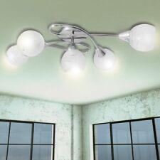 vidaXL Ceiling Lamp with Glass Shades 5xE14 Bulbs Pendant Lighting Fixture