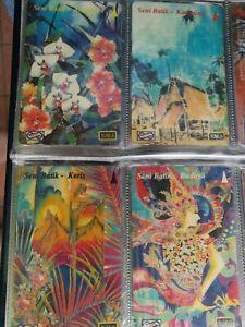 The Art of Batik 4v Malaysia used phone card set