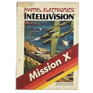 Intellivision Mattel Retro Video Game Mission X Boxed No Manual 1982