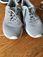Nike Trainers Boys UK Size 2 Grey And White