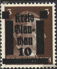 glauchau (Saxe) 1 neuf avec gomme originale 1945 Local surcharge
