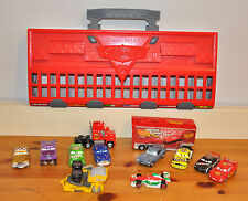 Disney Cars Carry Case Launcher WGP + Bessie Maxk Hauler Truck Cars Bundle Toys