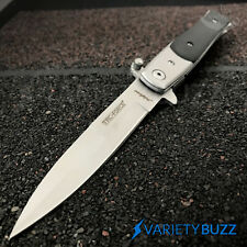 "8.5"" TAC FORCE SPRING ASSISTED TACTICAL STILETTO POCKET KNIFE Blade Assist Open"
