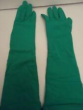 "Ladies Grandoe Long Unlined 16"" Spandex Gloves.O/S,Green"