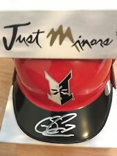 Indianapolis Indians Sean Casey Just Minors Signed Auto Baseball Helmet Reds