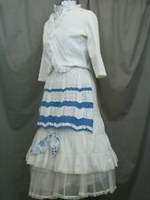 Victorian Dress Womens Edwardian Costume Civil War Reenactment Style Outfit