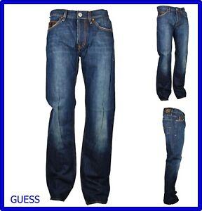 jeans guess uomo zampa gamba dritta pantaloni bootcut svasati regular fit 46 48