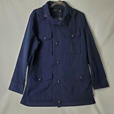 Ralph Lauren Womens Outerwear Rain Jacket Navy Mid Length Sz Large MSRP 245.00