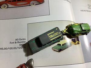 1960s Tootsie Toy Rambler Station Wagon & Trailer W/ Metal Car