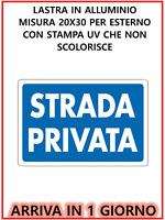 Cartello segnaletico, Strada  Privata, Materiale ALLUMINIO , 30 x 20 cm