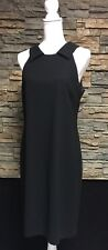 Donna Morgan Dress Black Open Back Formal Poly Silk Size 10
