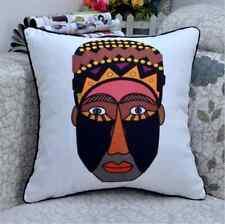 Ethnique africain visage moderne jeter canapé coussin couverture souple cas tribal native ZOULOU