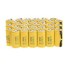 Lot of 36pcs Ni-Cd 1.2V 2/3AA 600mAh rechargeable battery NiCd Batteries -Yellow