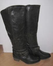 Forever 21 Wms Black Knee High Fashion Stud Boots 10