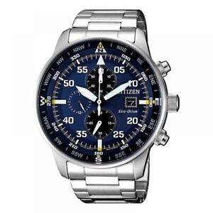 CITIZEN Crono Aviator Men's Quartz wrist Chronograph Watch with Box Quartz