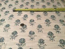 """1.75yd ROBERT ALLEN """"Cloe Flora"""" Cove Woven Floral Fabric $289 Retail!"""