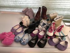 American Girl And Other Lot Of 13 Pairs Shoes Boots Skates Skateboard Footwear