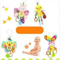 Baby Infant Rattles Plush Animal Stroller Hanging Bell Toys Doll Bed CF