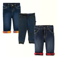 Baby Boy Carter's Lined Blue Denim Jeans OshKosh B'gosh Jeans or Jogger Pants