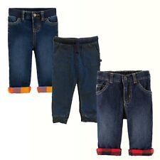 Baby Boy Carters Lined Blue Denim Jeans OshKosh Bgosh...