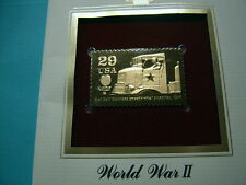 RED BALL EXPRESS SPEEDS SUPPLIES 1944 WORLD WAR II 22KT GOLD STAMP COMMEM #12