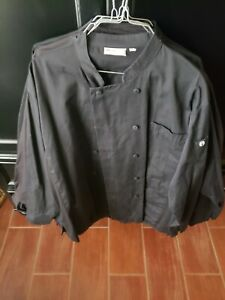 Traditional Chef Coat, Summer Long Sleeve Restaurant Kitchen Jacket Size XL
