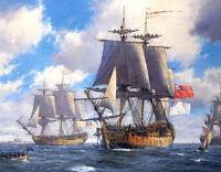 "Dream-art Oil painting big sail boats on ocean & waves seascape Blue skies 36"""