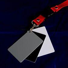 Mini 3-in-1 18% Gray / White / Black Card Set for White Balance Grey Color EV