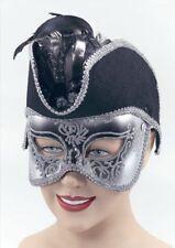 Máscara de Pirata Mascarada Negro Fancy Dress Accesorio Nuevo P1552