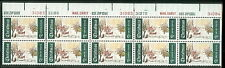 US #1384c 6¢ Christmas Issue, Plate Strip of 20 w/light green color omitted