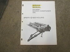 New Holland 495 mower conditioner service manual