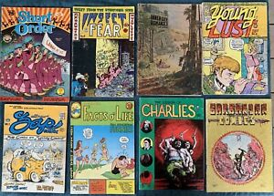 8 Miscellaneous Underground Comics  Low Grade Reading Lot #3  Zap Comix #1