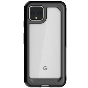 Clear Google Pixel 4, Pixel 4 XL Case with Metal Bumper Ghostek Atomic Slim