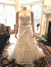 Diamond Collection Casablanca Bridal Size 12 Strapless Ivory Wedding Dress Wow!