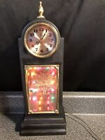 RARE Lighted 3D Peacock Shelf Mantle Clock- Multi Color Very Unique Collectible