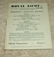 More details for royal ascot race card 1949, day 2 - queen mary, royal hunt cup, jersey stakes