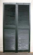 "5 Pair avail 34""x61 Vintage Antique SOLID Wood Wooden Window Shutter Louver Door"